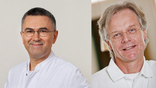 Links: Doçent (ÜAK Ankara) Dr. Irfan Vardarli, Oberarzt der Klinik für Innere Medizin, Leiter der Abteilung für Diabetologie und Endokrinologie; Rechts: Dr. Nikolaus Scheper, Facharzt für Allgemeinmedizin und Arzt für Diabetologie